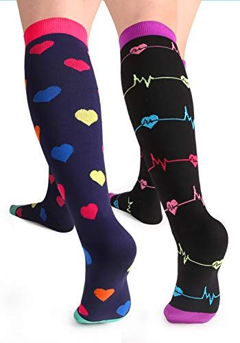 Unisex Standing And Walking Tigers Pattern Knee High Compression Thigh High Socks Tube Socks