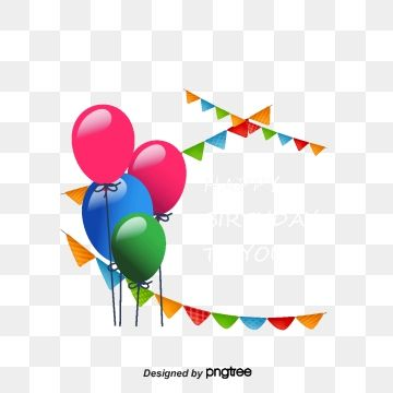 Beautiful Blue And White Balloons Birthday Card Vector Birthday