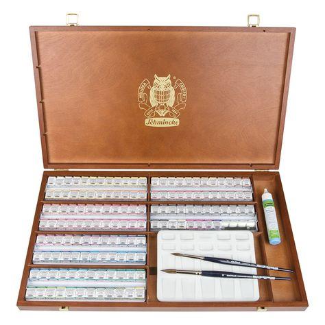 Schmincke Horadam Watercolour Complete Wooden Box Set 140
