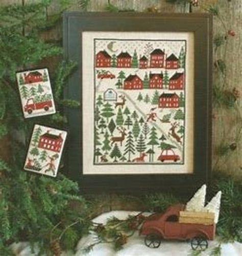 The Prairie Schooler CHRISTMAS TREE FARM Cross Stitch Pattern Design Chart Book No. 198 euc