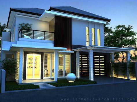 gambar rumah minimalis modern 2 lantai hook - desain