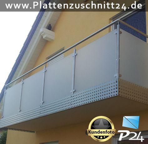 Balkonverkleidung mit PLEXIGLAS® Satiniert Anwendungsbeispiele - küche spritzschutz plexiglas