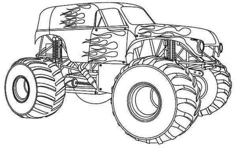 Free Monster Truck Coloring Page Monster Truck Coloring Pages