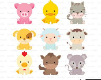 Baby Farm Animals Clip Art popular items for pigs clipart on etsy | party ideas | pinterest