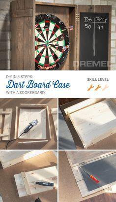 Pin On Dart Board Cabinet