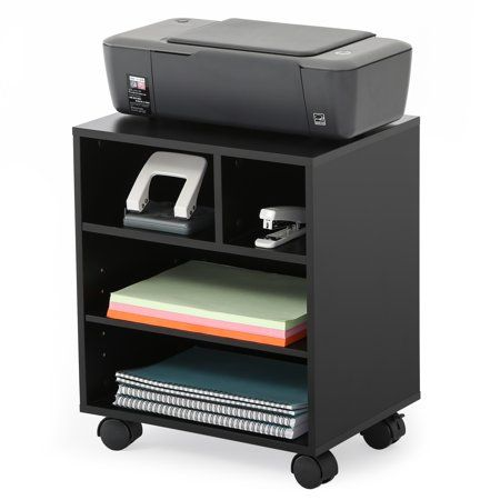 Fitueyes Mobile Printer Stand Organizing Storage Adjustable Work Cart Wheels Ps404001wb Walmart Com Printer Stand Office Organization At Work Printer Stands