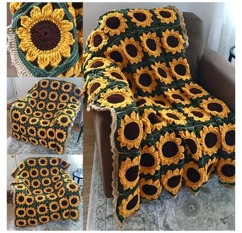 Crochet Afghans, Crochet Diy, Crochet Motifs, Crochet Squares, Crochet Blanket Patterns, Crochet Crafts, Crochet Projects, Crochet Blankets, Afghan Patterns