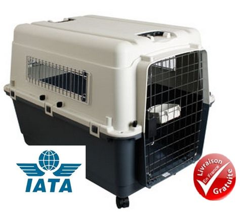 Cage de Transport pour chien Kennel Taille 6, XL, ROULETTES OFFERTES