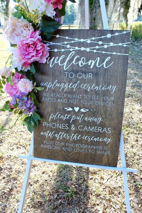 No Cameras Sign   Unplugged Wedding   Unplugged Wedding Sign   Rustic Wedding Decor   Unplugged Cere