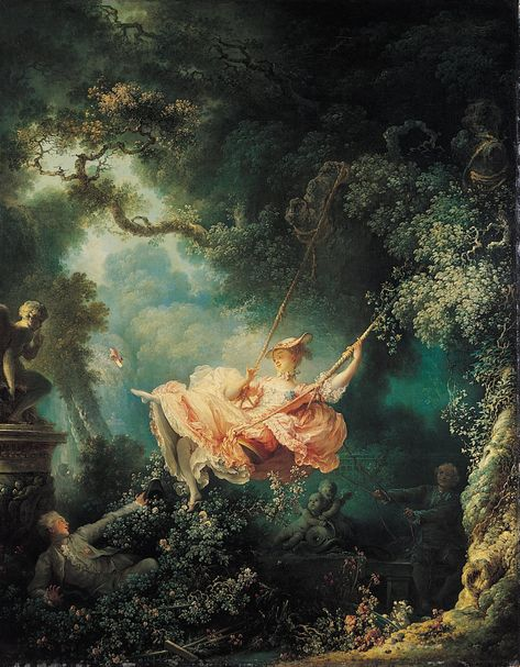Jean-Honore Fragonard: The Happy Accidents of the Swing Mini Art Print by fineearthprints Renaissance Kunst, Renaissance Paintings, Swing Painting, Jean Honore Fragonard, Arte Peculiar, Classical Art, Aesthetic Art, Canvas Art Prints, Oil On Canvas