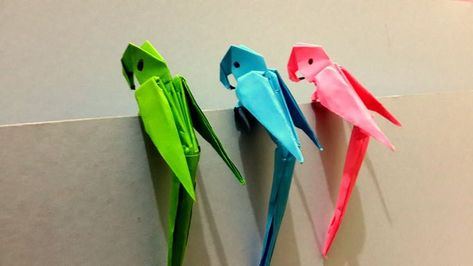 Origami 3D Parrot - Mejor Origami Tutorial  #mejor #origami #parrot #tutorial