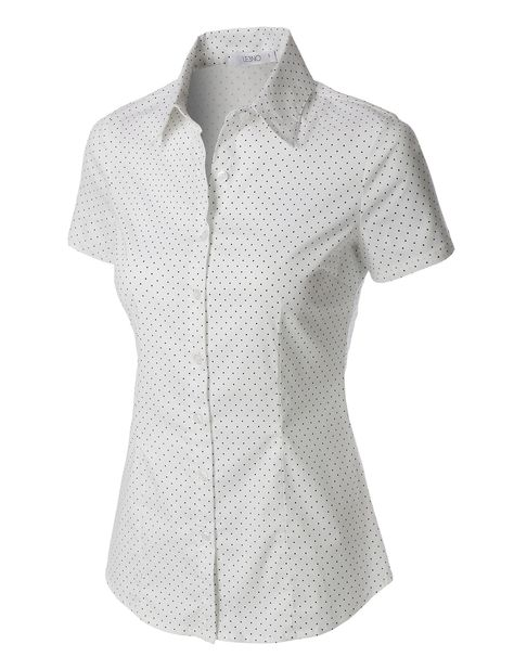 080761d1 This polka dots short sleeve button down tailored shirt is made with a  lightweight and breathable fabrication for comfort. Pair it with our skinny  denim or ...