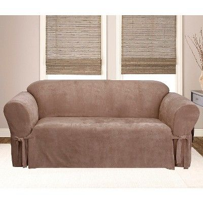 Soft Suede Sofa Slipcover Sable Sure Fit Products Pinterest