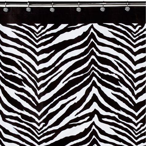 Creative Bath Products Inc S1050bw Zebra Shower Curtain Black