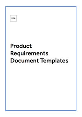 Free Product Requirements Document Template Document Templates