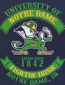 Ncaa Notre Dame Fighting Irish Rebel Raschel Throw Blanket, x Blue, As Shown