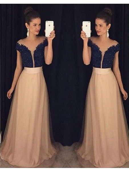 Lace Long Prom Formal Evening Party Dresses 996021035