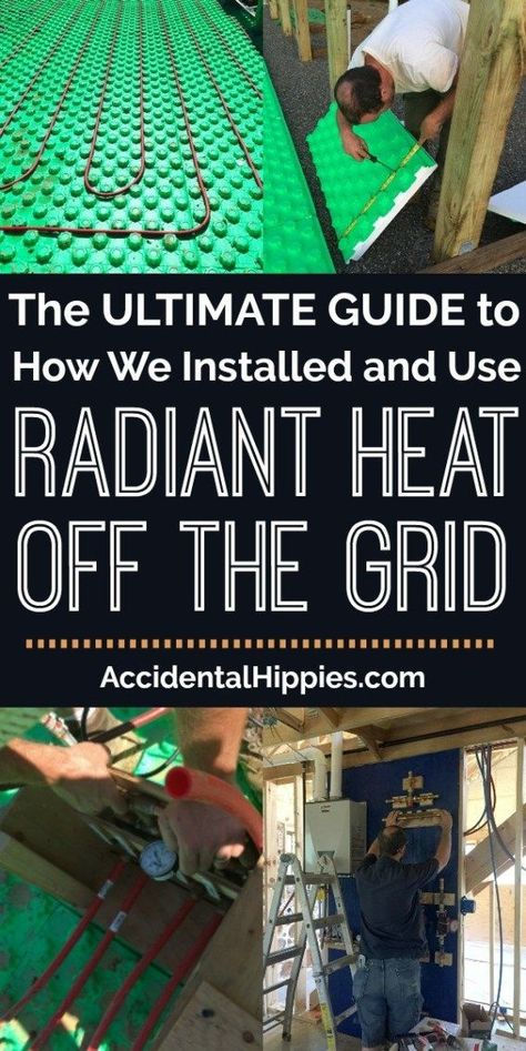alternative energy We installed a custom radiant heat system in our off the grid house. Here's everything we learned (and some cautionary tales) and what YOU should know before. Renewable Energy, Solar Energy, Solar Power, Wind Power, Cordwood Homes, Radiant Heating System, Off Grid Homestead, Off Grid House, Off The Grid Homes