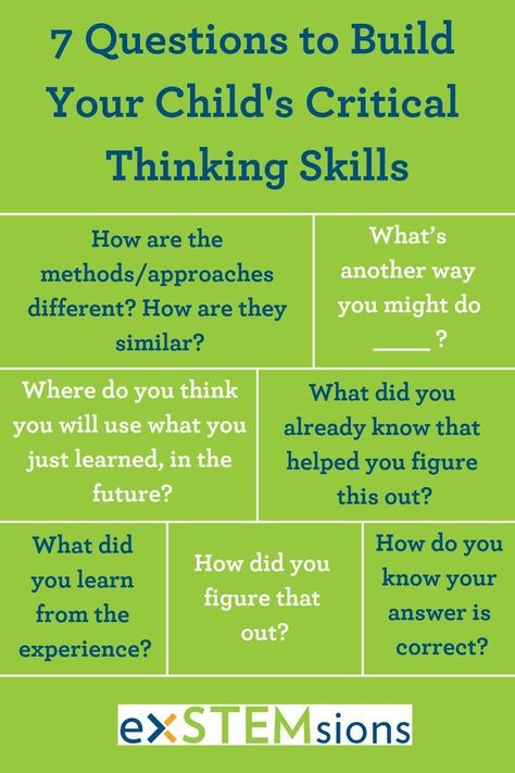 Seven Questions (and One Strategy) to Build Critical Thinking Skills