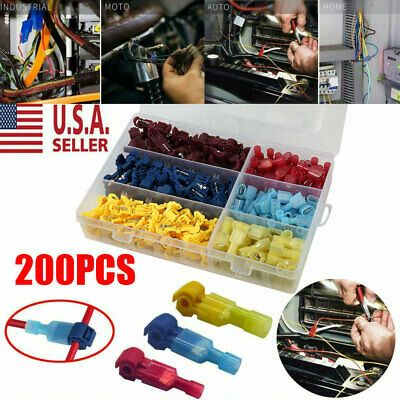 96Pcs Quick Splice Wiring Electrical Insulated Crimp Terminals Connector Kit