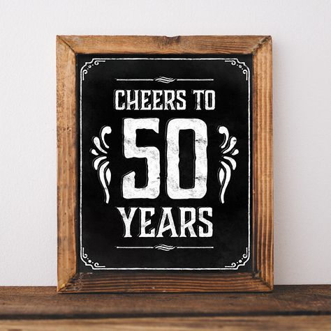 50th birthday party decorations. Printable 50 th birthday decor rustic. 50 birthday centerpieces. Cheers to 50 years poster. Birthday sign 50th birthday party decorations decoration Printable 50 th birthday rustic decorations centerpieces Cheers to 50 years poster birthday chalkboard digital download birthday decor country style SunnyNotes 5.00 USD
