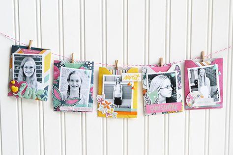 Birthday Wishes Garland - Scrapbook.com- a sweet banner idea for birthday decor!