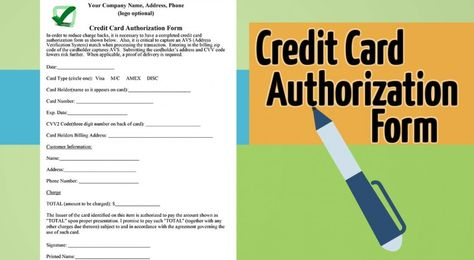 5 Critical Tips For Accepting A Credit Card Authorization Form - credit card authorization form