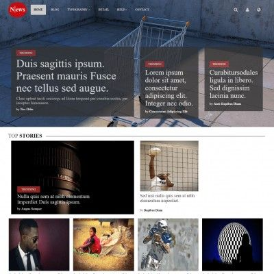 Fashionable tv channel website template #47350.