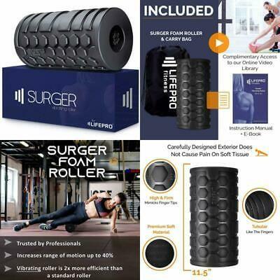 Lifepro 4-Speed Vibrating Foam Roller High Intensity Vibrating Roller For Musc