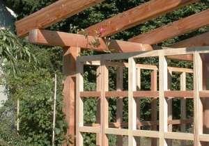 Pergola Mit Rankgitter Pergola Outdoor Structures Outdoor