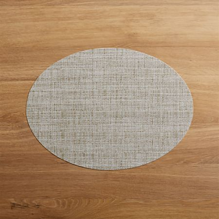 Chilewich Round Crepe Neutral Vinyl Placemat Reviews Crate And Barrel Placemats Crate And Barrel Chilewich