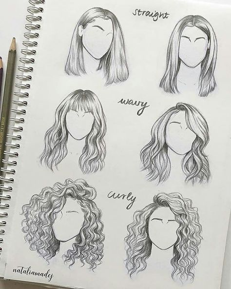 Amazing hair sketches by @nataliamadej. What do you think?