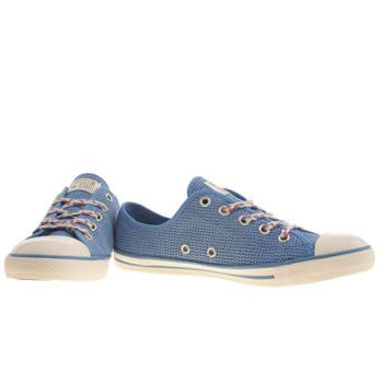 Womens Pale Blue Converse All Star Dainty Summer Ox Trainers