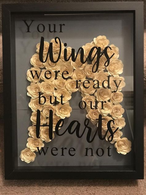 Your Wings Flower Shadow Box Etsy Shadow Box Picture Frames, Shadow Box Memory, Diy Shadow Box, Shadow Box Frames, Flower Shadow Box, Flower Boxes, 3d Cuts, Cricut Craft Room, 3d Rose