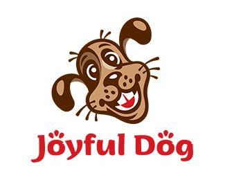 Joyful Dog Logo Design For Sale Customizable Happy Smiling