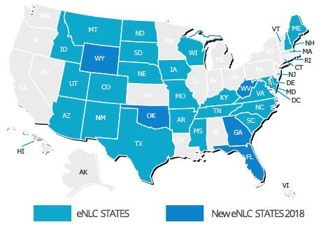 Nursing Compact States Travel Nurse Jobs Travel Nursing Nursing Jobs