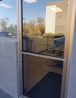 Storefront Glass Door Shade