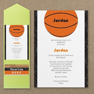 Ideas for a Basketball Bar or Bat Mitzvah Bash from Jewitupcom