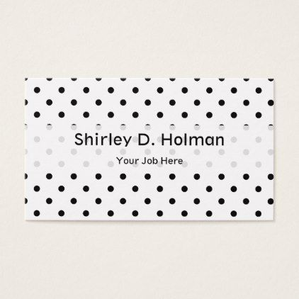 Black Polka Dots On White Background Business Card Zazzle Com Black Polka Dot Business Card Black Business Cards Minimal