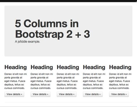 Making 5 even columns in Bootstrapu0027s 12 column grid Easy! Works - kaplan optimal resume
