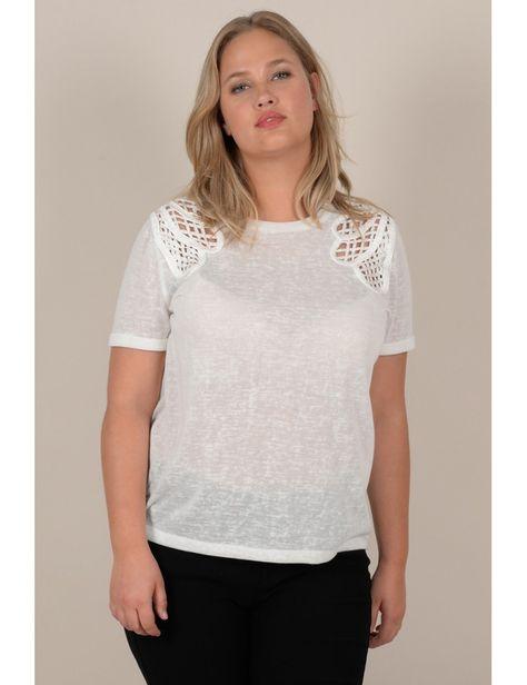 2deda785ac Lace shoulder t-shirt - Molly Bracken E-Shop - Collection Printemps Été 2018