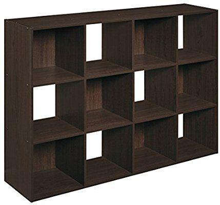 Amazon Com Closetmaid 1292 Cubeicals Organizer 12 Cube Espresso Home Kitchen Cube Bookcase Cube Organizer Closetmaid