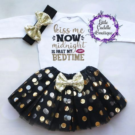 Kiss Me At Midnight First New Years Outfit Baby Girl New Years Outfit Tops Baby