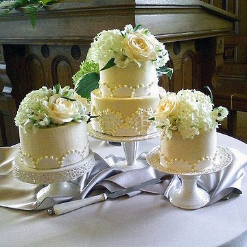 like the thought of having different sized cakes in place of one tier cake