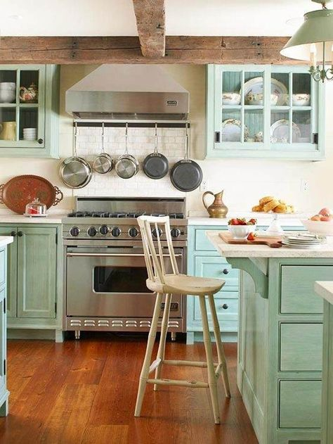 Traditional Blue and White Scheme Beach Home Interior Furniture Decorating with Simple Blue Wood Wall Mounted Kitchen Cabinet and Useful Base Wood Kitchen Cabinet complete with the Storage Space also Modern Aluminum Hanging Rack Coat Accessories for Kitchen