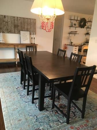 Large Farm Table 6 Chairs 150 Shoreview Furniture By
