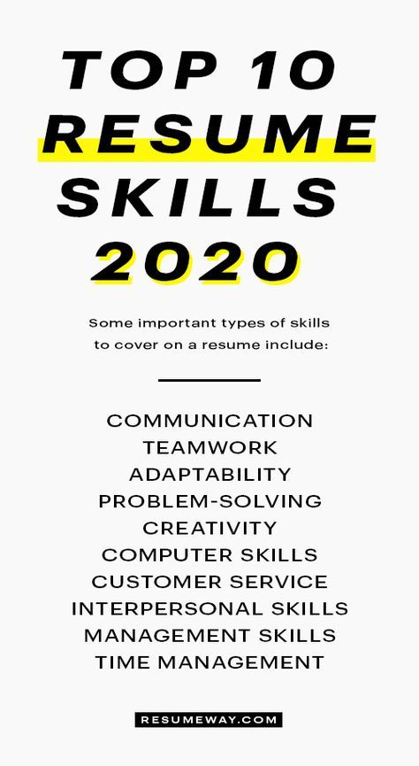 15 Best Skills For A Resume With Examples Resumeway In 2020 Resume Skills Resume Skills Section Resume Tips