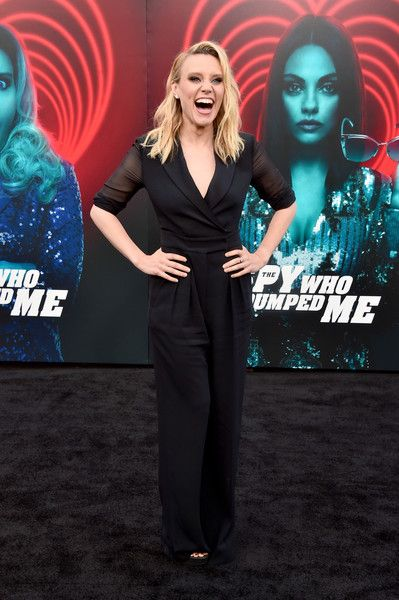 Kate McKinnon attends the premiere of Lionsgate's 'The Spy Who Dumped Me' at Fox Village Theater.