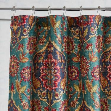 Ankari Teal Shower Curtain Pier 1 Imports Teal Shower Curtains