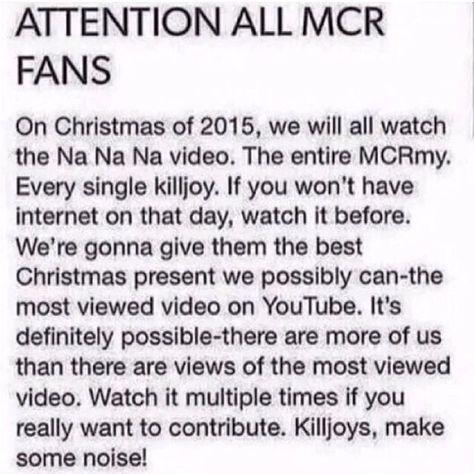 #mcr #mychemicalromance #killjoy #nanana #youtube #christmas #christmas2015 #christmaspresent #killjoys #killjoysneverdie #killjoysmakesomenoise